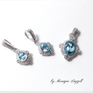 Jewelry - Blue Topaz Earring and Pendant Set